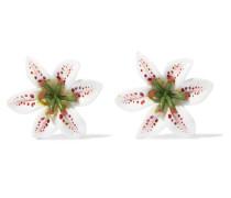 Lilium Ohrclips aus Harz