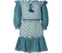 Leya Schulterfreies Minikleid aus einer Bedruckten Seiden-baumwollmischung
