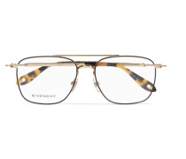 Goldfarbene Pilotenbrille Aus Azetat In optik