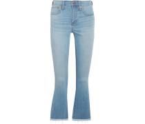 Cali Verkürzte Hoch Sitzende Bootcut-jeans