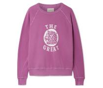 The College Bedrucktes Sweatshirt aus Baumwollfrottee in Distressed-optik