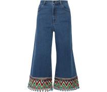 Beta Verkürzte, Hoch Sitzende Jeans