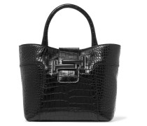 Double T Mini Tote aus Leder