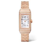 Reverso One Duetto Uhr aus Rosé mit Diamanten