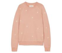 The College Besticktes Sweatshirt aus Flammgarn-jersey aus Baumwolle