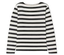 Gestreiftes Sweatshirt aus Baumwoll-jersey