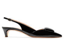 Misty Slingback-pumps aus Lackleder