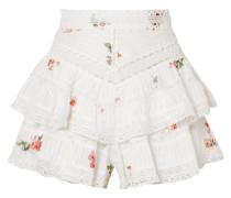 Heathers Shorts aus Floral Bedrucktem Baumwoll-voile