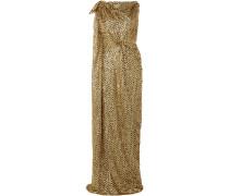 Silvabella Metallic-robe aus Chiffon