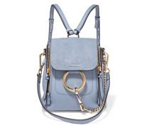 Faye Mini Rucksack aus Strukturiertem Leder und Veloursleder