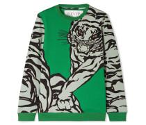 Bedrucktes Sweatshirt aus Jersey aus einer Baumwollmischung