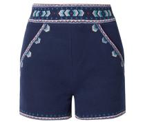 Shorts aus Besticktem Baumwoll-twill