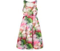 Kleid aus Duchesse-satin mit Blumenprint