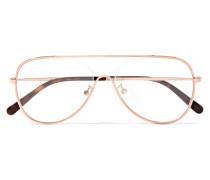 Roséfarbene Brille im Pilotenstil