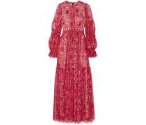 Anya Verzierte Robe aus Tüll mit Blumenprint