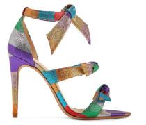 Lolita Gestreifte Sandalen aus Lamé