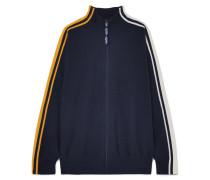Trainingsjacke aus Strick mit Streifen