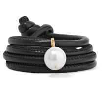 Wandelbares Wickelarmband aus Leder