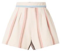 Maren Gestreifte Shorts aus Baumwoll-canvas