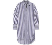 Oversized-hemd aus Gestreifter Baumwollpopeline