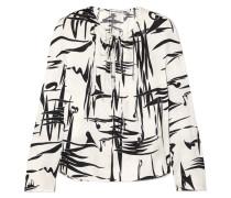 Bedruckte Bluse aus Seiden-jacquard