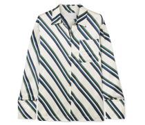 Pyjama-hemd aus Gestreiftem Seidensatin