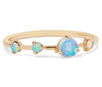 Four Step Ring aus 14 Karat  mit Opalen