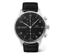Portugieser Chronograph 40,9 Mm Uhr aus Edelstahl