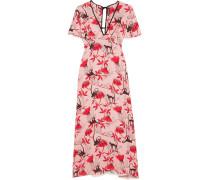 Bedrucktes Kleid aus Crêpe De Chine