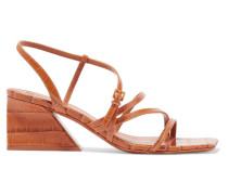 Kelise Sandalen aus Leder mit Krokodileffekt