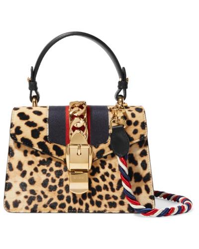 Gucci Damen Sylvie Mini Schultertasche aus Kalbshaar Konstrukteur Angebote Günstiger Preis 2018 Neueste Sast Verkauf Online PPhUCc