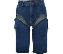Wandelbare Jeansshorts mit Cut-outs