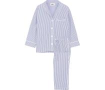 Marina Pyjama aus Gestreifter Baumwolle