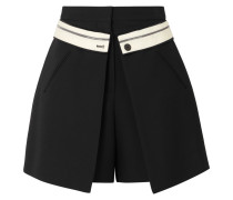 Shorts aus Crêpe aus einer Wollmischung