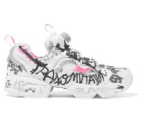 + Reebok Instapump Fury Bedruckte Sneakers aus Neopren und Mesh