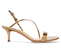 55 Slingback-sandalen aus Metallic-leder