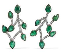 Ohrringe aus 18 Karat Gold und Sterling