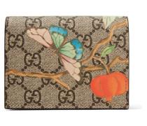 Portemonnaie aus Beschichtetem Canvas und Strukturiertem Leder