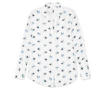 Rossi Bedrucktes Hemd aus Vorgewaschener Seide