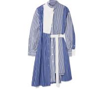 Asymmetrisches Kleid aus Baumwollpopeline und Piqué