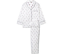 Marina Bestickter Pyjama aus Baumwolle