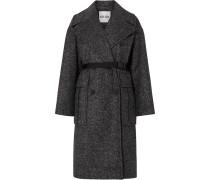 Mantel aus Tweed mit Gürtel