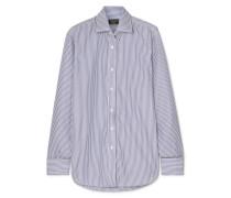 Gestreiftes Hemd aus Baumwollpopeline