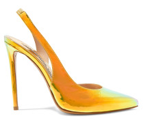 Amber Slingback-pumps aus Irisierendem Leder