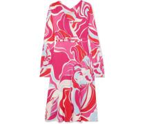 Bedrucktes Kleid aus Stretch-jersey