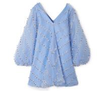 Rosenfeld Verziertes Minikleid aus Tüll