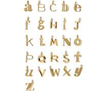 Alphabet Letter A–z Buchstabenanhänger aus -vermeil