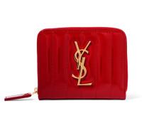 Vicky Gestepptes Portemonnaie aus Lackleder