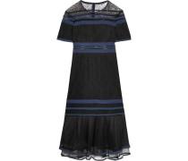 Kleid aus Spitze mit Tüllbesatz