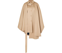 Asymmetrisches Oversized-cape aus Baumwoll-canvas